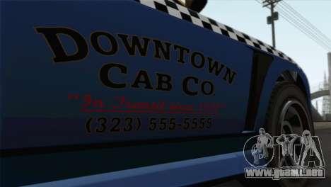 GTA 5 Bravado Buffalo S Downtown Cab Co. para GTA San Andreas vista hacia atrás