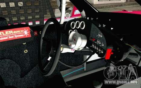 NASCAR Toyota Camry 2012 Plate Track para la visión correcta GTA San Andreas