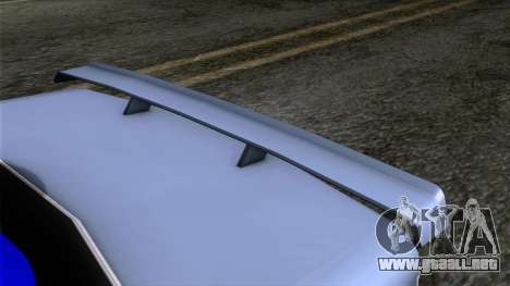 Primo GT para GTA San Andreas vista hacia atrás
