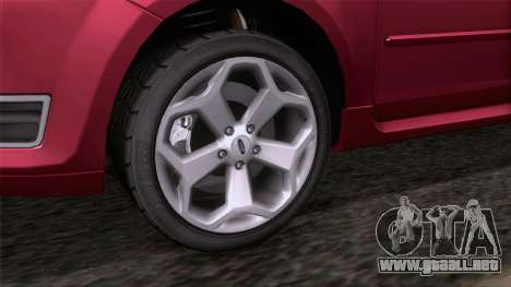 Ford Focus ST Tunable para GTA San Andreas vista posterior izquierda