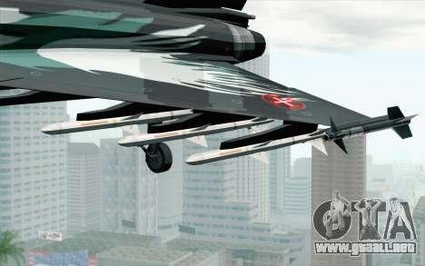 EuroFighter Typhoon 2000 Black Hawk para la visión correcta GTA San Andreas