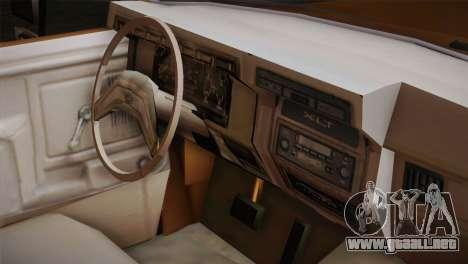 Ford F-150 1984 para la visión correcta GTA San Andreas