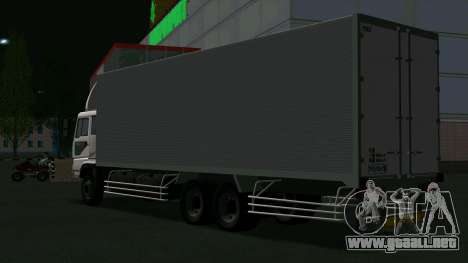 Mitsubishi Fuso The Great Box para GTA San Andreas vista posterior izquierda