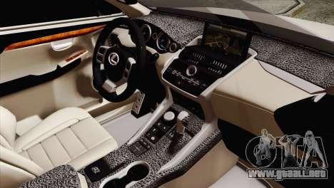 Lexus NX 200T para la visión correcta GTA San Andreas