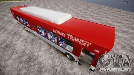 GTA 5 Bus v2 para GTA 4 Vista posterior izquierda