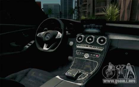 Mercedes-Benz C250 AMG Brabus Biturbo Edition para GTA San Andreas vista hacia atrás