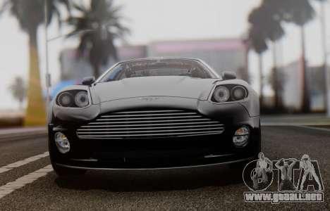 Aston Martin V12 Vanquish 2001 v1.01 para GTA San Andreas vista hacia atrás