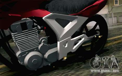 Honda Twister 250 v2 para GTA San Andreas vista hacia atrás