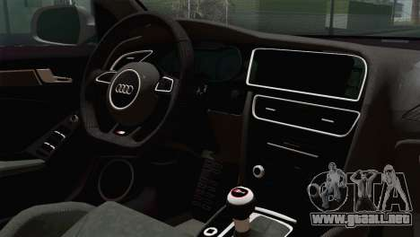 Audi S4 Avant 2013 para GTA San Andreas vista hacia atrás