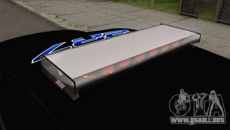 Dodge Charger 2013 LSPD para GTA San Andreas vista hacia atrás