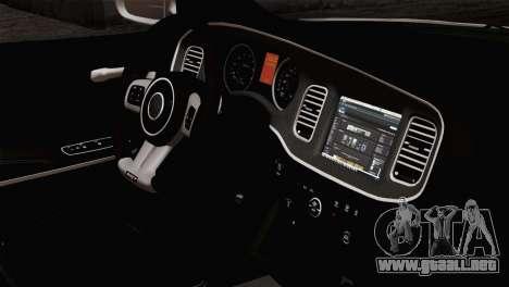 Dodge Charger SXT Premium 2014 para la visión correcta GTA San Andreas