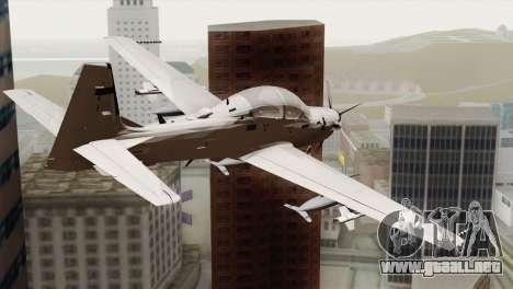 Embraer A-29B Super Tucano Low Visibility para GTA San Andreas left