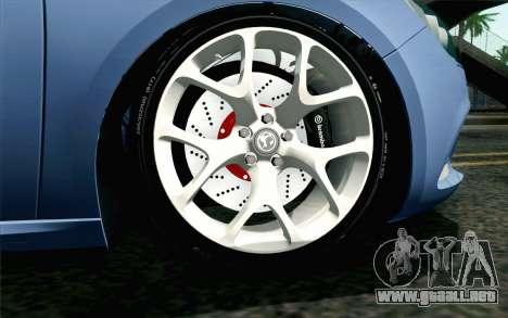 Vauxhall Astra VXR 2012 para GTA San Andreas vista posterior izquierda