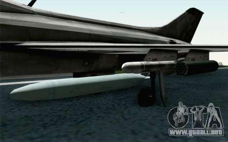MIG-21 Fishbed C Vietnam Air Force para la visión correcta GTA San Andreas