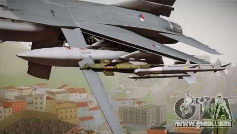 F-16 Fighting Falcon RNLAF Solo Display J-142 para la visión correcta GTA San Andreas