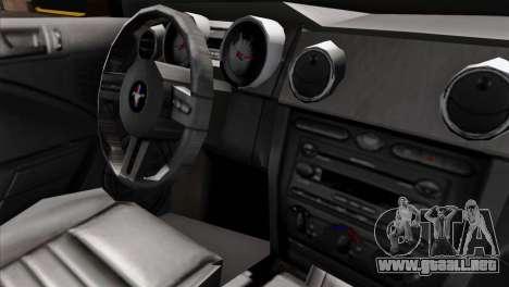 Ford Mustang GT Wheels 1 para la visión correcta GTA San Andreas