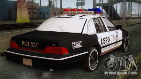 Ford Crown Victoria para GTA San Andreas left