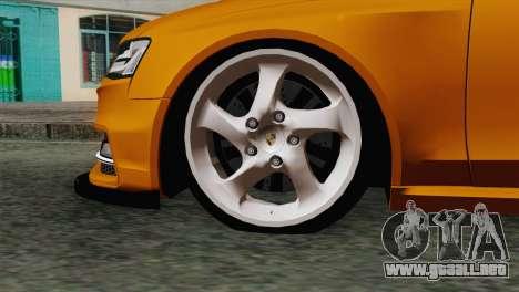 Audi S4 Avant 2013 para GTA San Andreas vista posterior izquierda