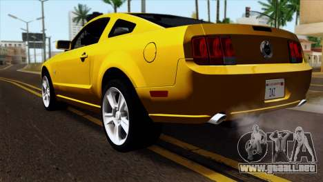 Ford Mustang GT Wheels 1 para GTA San Andreas left