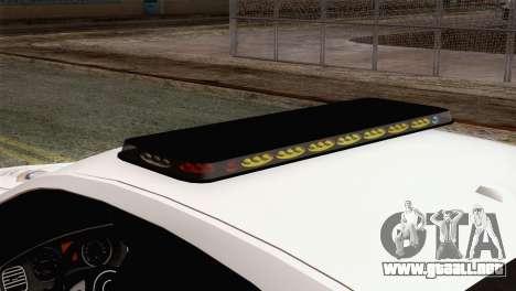 Dodge Charger SXT Premium 2014 para GTA San Andreas vista hacia atrás