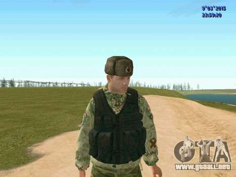 Guerrero batallón Fantasma para GTA San Andreas tercera pantalla