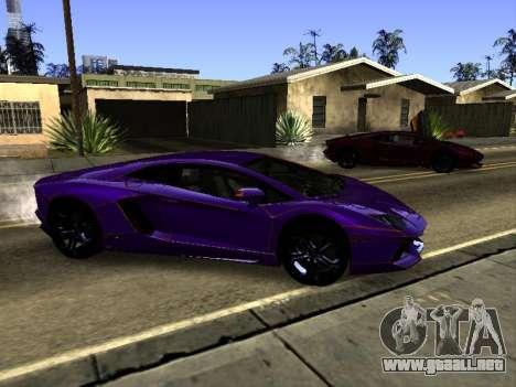 Lamborghini Aventador Tron para la vista superior GTA San Andreas