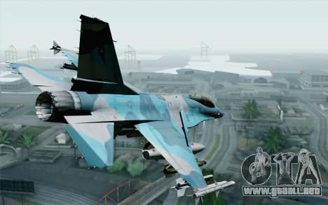 F-16C Fighting Falcon NSAWC Blue para GTA San Andreas left