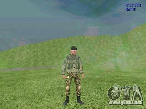 Soldado del batallón de la División para GTA San Andreas segunda pantalla