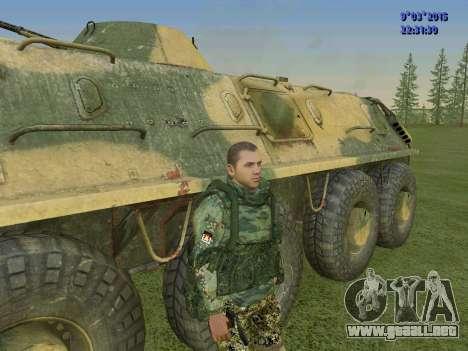 Un luchador de Esparta batallón para GTA San Andreas tercera pantalla