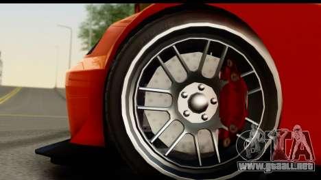 GTA 5 Benefactor Feltzer SA Mobile para GTA San Andreas vista hacia atrás