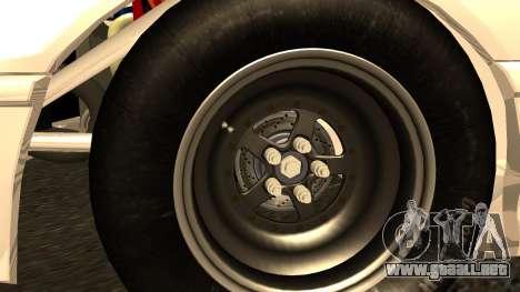 Honda CRX Dragster para GTA San Andreas vista posterior izquierda