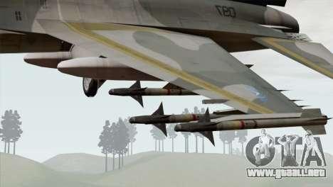 F-16 Scarface Squadron para la visión correcta GTA San Andreas