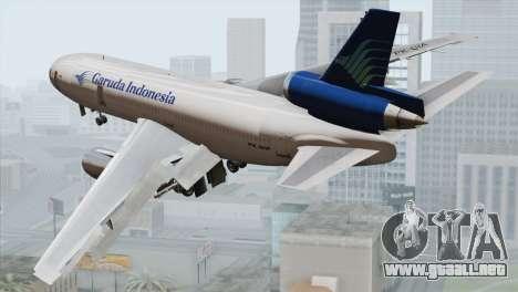 DC-10-30 Garuda Indonesia para GTA San Andreas left