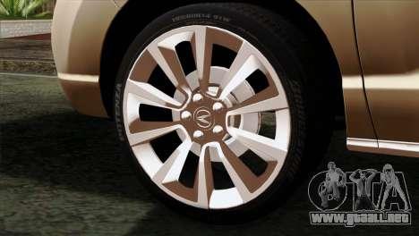 Acura MDX 2009 para GTA San Andreas vista posterior izquierda