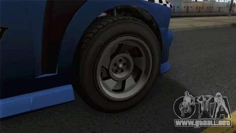 GTA 5 Bravado Buffalo S Downtown Cab Co. para GTA San Andreas vista posterior izquierda