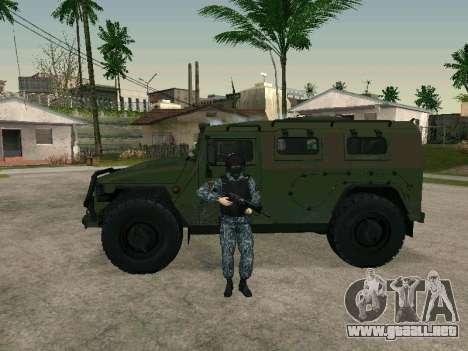 La policía para GTA San Andreas sucesivamente de pantalla