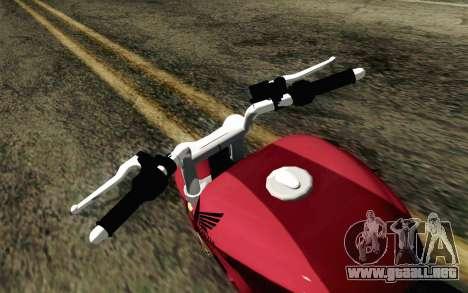 Honda Twister 250 v2 para la visión correcta GTA San Andreas