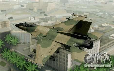F-16 Fighter-Bomber Green-Brown Camo para GTA San Andreas left