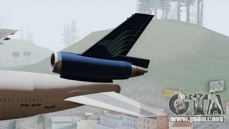DC-10-30 Garuda Indonesia para GTA San Andreas vista posterior izquierda