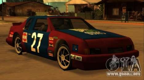 Beta Hotring Racer para la visión correcta GTA San Andreas