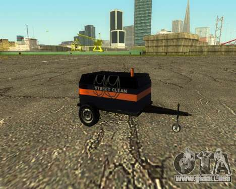 Multi Utility Trailer 3 in 1 para GTA San Andreas vista posterior izquierda