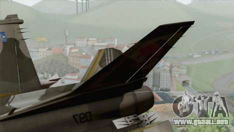 F-16 Scarface Squadron para GTA San Andreas vista posterior izquierda