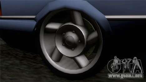 Primo GT para GTA San Andreas vista posterior izquierda