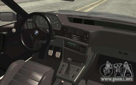 BMW M635CSI E24 1986 V1.0 EU Plate para la visión correcta GTA San Andreas