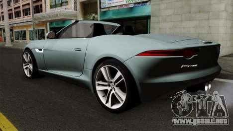 Jaguar F-Type para GTA San Andreas left