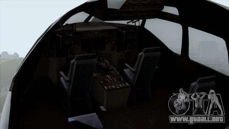 C-17A Globemaster III USAF McGuire para GTA San Andreas vista hacia atrás