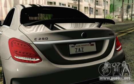 Mercedes-Benz C250 AMG Brabus Biturbo Edition para la visión correcta GTA San Andreas
