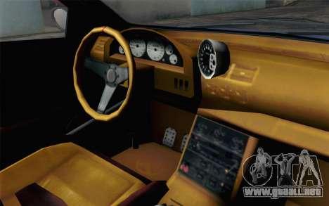 GTA 5 Ubermacht Sentinel XS SA Mobile para GTA San Andreas vista hacia atrás