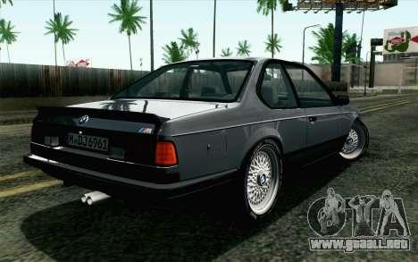BMW M635CSI E24 1986 V1.0 EU Plate para GTA San Andreas left