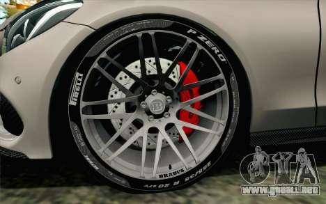 Mercedes-Benz C250 AMG Brabus Biturbo Edition para GTA San Andreas vista posterior izquierda